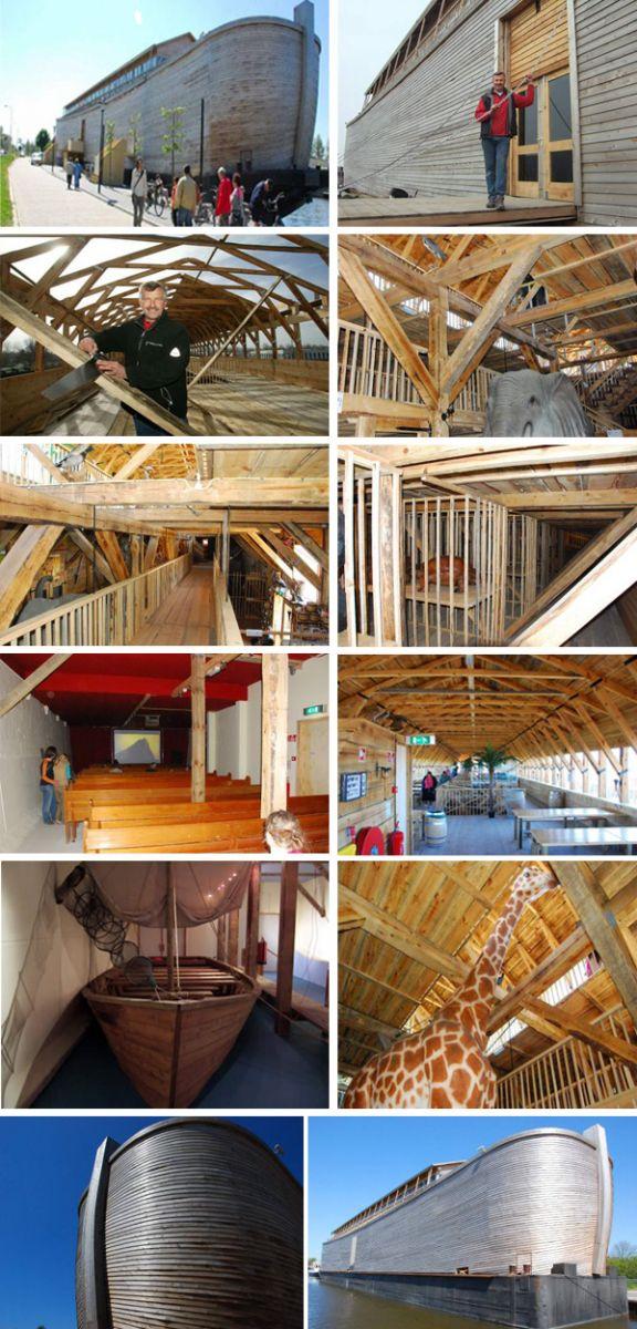 Construction du nouveau Arche de Noé par un néerlandais