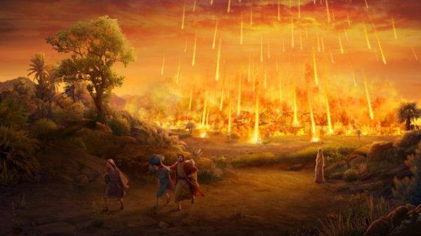 Le péché de Sodome et Gomorrhe. Mais gardons à l'esprit que le récit de la destruction de Sodome et Gomorrhe fait fonction de cas paradigmatique de jugement divin, tant dans les Écritures que dans la littérature extra-biblique.